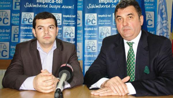Petru Mărginean, alături de preşedintele PC, Daniel Constantin