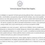 Scrisoare deschisă a societății civile adresată deputatului Bogdan Țîmpău