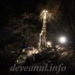Sonda care foreaza in Deva. Foto; Octavian C. Tabac