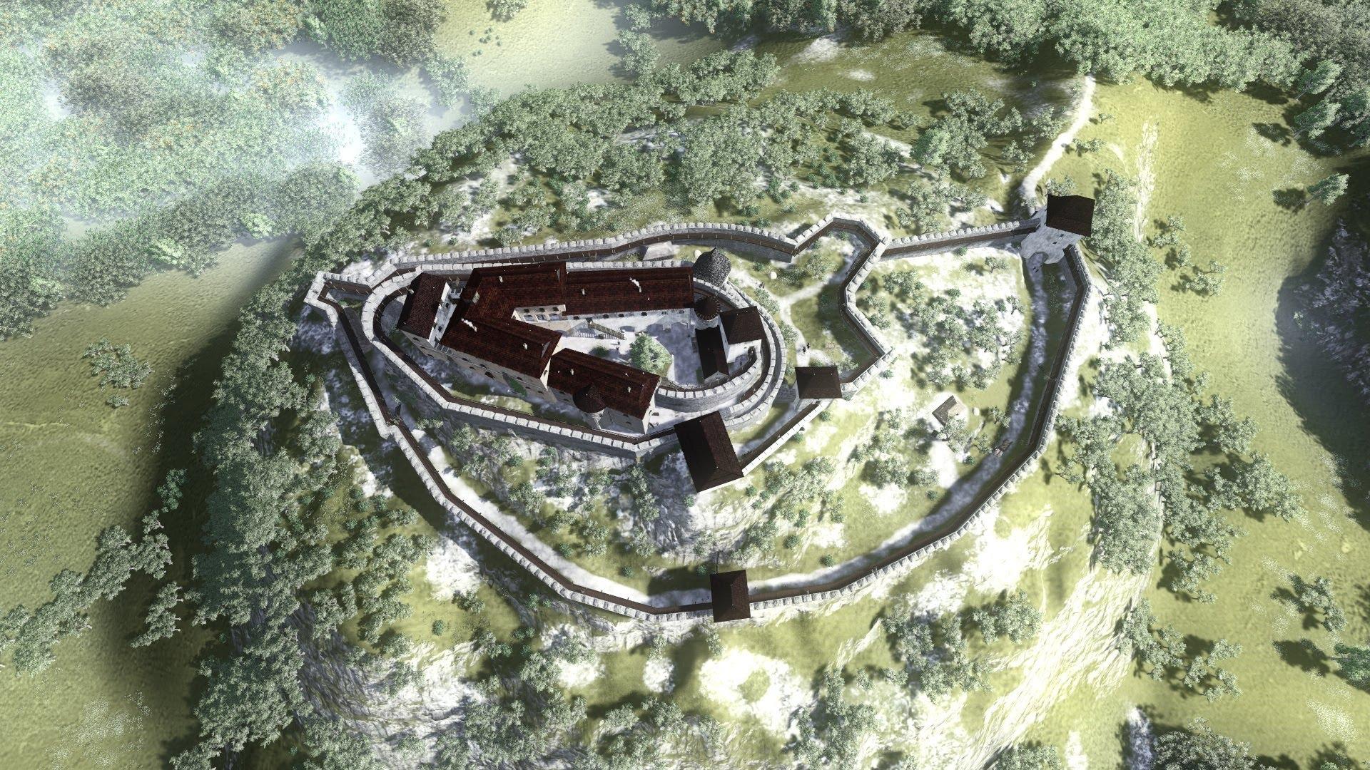 Cetatea DEVA a fost desenată 3D după documentele salvate de la 1849 - Video