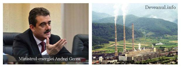 Ministrul energiei Andrei Gerea