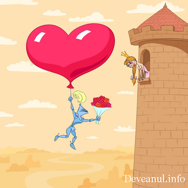Valentine's Day of princess in a tower